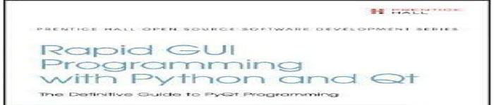 《Rapid GUI Programming with Python and Qt》pdf电子书免费下载