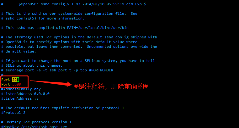 Linux之ssh服务默认端口修改Linux之ssh服务默认端口修改