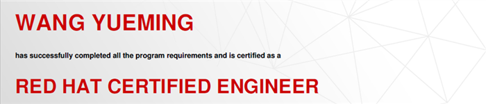 捷讯:王悦名8月24日北京顺利通过RHCE认证。