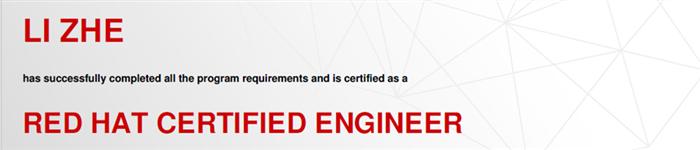 捷讯:李哲8月19日上海顺利通过RHCE认证。