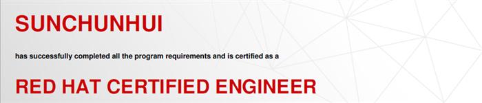 捷讯:孙春辉8月19日北京顺利通过RHCE认证。