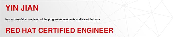 捷讯:殷剑8月24日上海顺利通过RHCE认证。