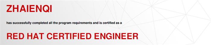 捷讯:翟恩琦8月31日北京顺利通过RHCE认证。
