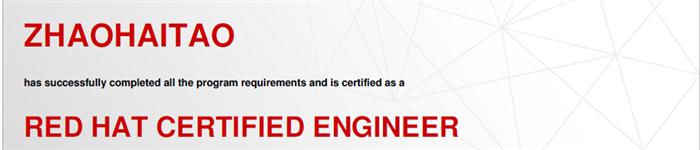 捷讯:赵海涛8月21日北京顺利通过RHCE认证。