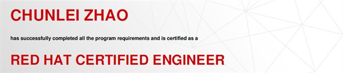 捷讯:赵春雷8月25日上海双满分通过RHCE认证。