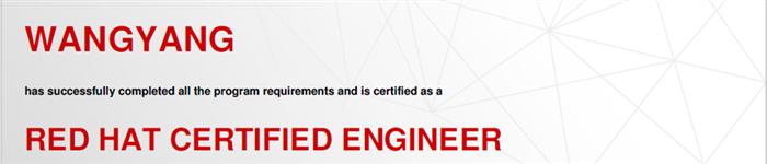 捷讯:汪洋8月24日北京顺利通过RHCE认证。