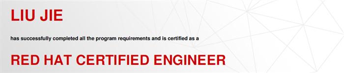 捷讯:刘杰8月26日上海顺利通过RHCE认证。