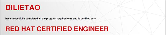 捷讯:底烈涛8月31日北京顺利通过RHCE认证。