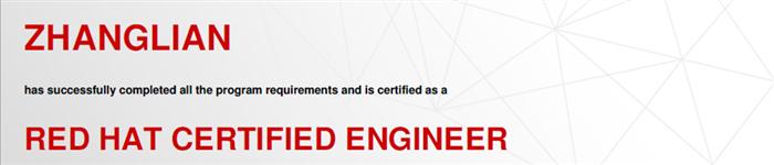 捷讯:张恋8月27日北京顺利通过RHCE认证。