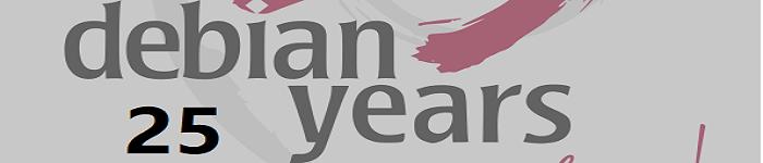 为Debian项目成立25周年祝贺