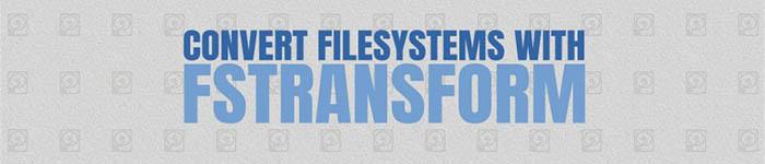 无需格式化就可以转换文件系统