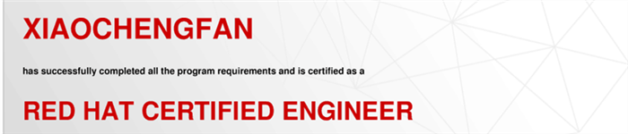 捷讯:范骁诚10月31日上海顺利通过RHCE认证。