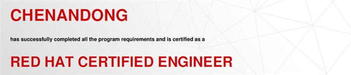 捷讯:陈安东10月4日广州顺利通过RHCE认证。