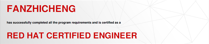捷讯:范峙成10月7日北京顺利通过RHCE认证。