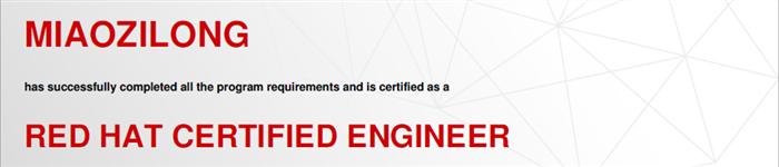 捷讯:缪子隆10月4日上海顺利通过RHCE认证。