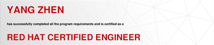 捷讯:杨振10月6日北京顺利通过RHCE认证。