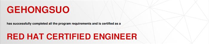 捷讯:葛红锁10月5日北京高分通过RHCE认证。