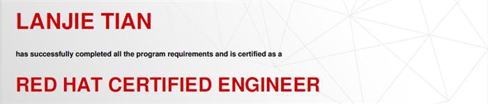 捷讯:田兰洁10月6日深圳顺利通过RHCE认证。