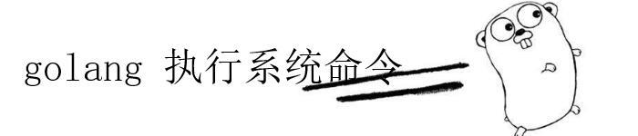 介绍 golang执行系统命令