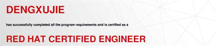 捷讯:邓旭杰11月23日深圳顺利通过RHCE认证。