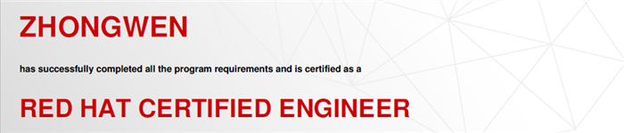 捷讯:钟闻11月19日广州顺利通过RHCE认证。