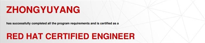 捷讯:仲玉阳11月3日北京顺利通过RHCE认证。