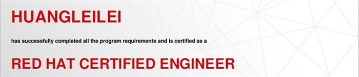 捷讯:黄磊磊11月5日上海顺利通过RHCE认证。