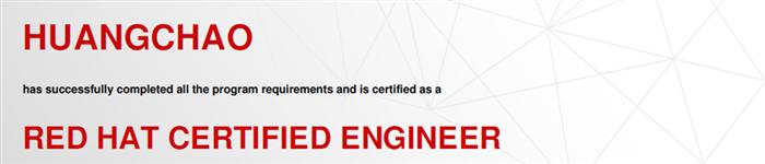 捷讯:黄超11月3日北京顺利通过RHCE认证。
