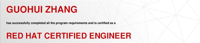 捷讯:张国辉11月26日北京顺利通过RHCE认证。