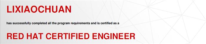 捷讯:李晓川11月4日北京顺利通过RHCE认证。
