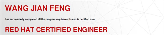 捷讯:王建峰11月4日北京顺利通过RHCE认证。