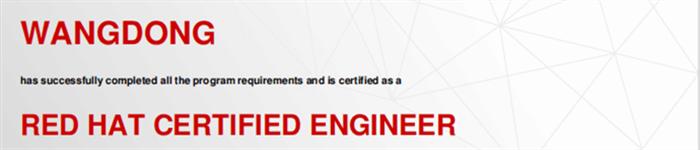 捷讯:王栋11月27日北京顺利通过RHCE认证。