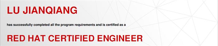 捷讯:卢健强11月5日上海顺利通过RHCE认证。