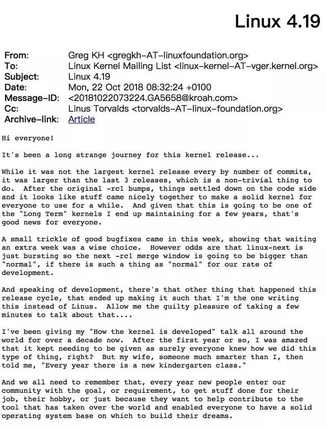 Linux之父Linus Torvalds又双叒叕回来了!Linux之父Linus Torvalds又双叒叕回来了!