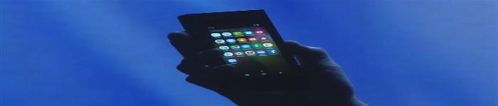 三星首秀可折叠手机原型演示机
