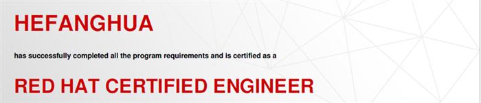 捷讯:何方华12月26日上海顺利通过RHCE认证。