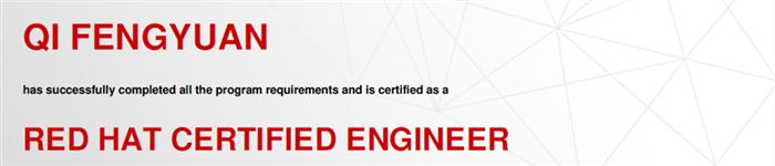 捷讯:戚丰远12月26日北京顺利通过RHCE认证。