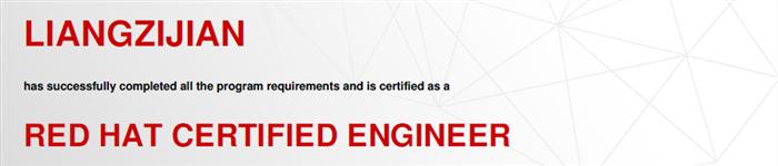 捷讯:梁子健12月19日广州顺利通过RHCE认证。