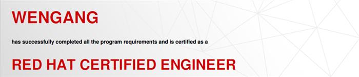 捷讯:文刚12月19日广州顺利通过RHCE认证。