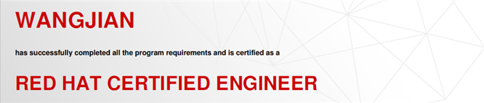 捷讯:王建12月25日北京顺利通过RHCE认证。