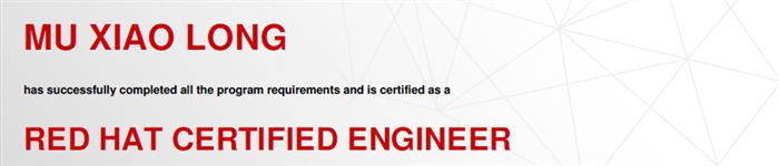 捷讯:慕小龙12月25日北京顺利通过RHCE认证。