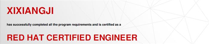 捷讯:袭祥吉12月26日北京顺利通过RHCE认证。
