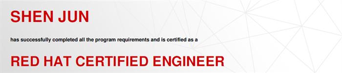 捷讯:沈俊12月25日上海顺利通过RHCE认证。