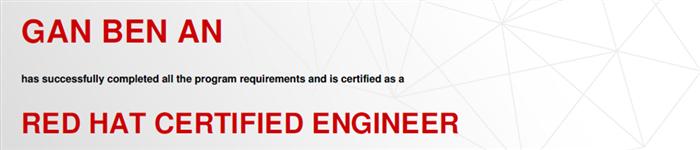 捷讯:甘本安12月25日上海顺利通过RHCE认证。
