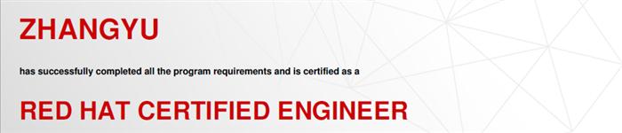 捷讯:张宇1月22日上海顺利通过RHCE认证。