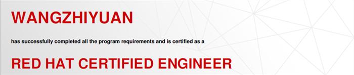 捷讯:王志远12月28日北京顺利通过RHCE认证。