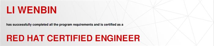 捷讯:李文彬1月22日上海顺利通过RHCE认证。