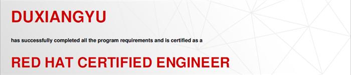 捷讯:杜翔宇12月27日北京顺利通过RHCE认证。