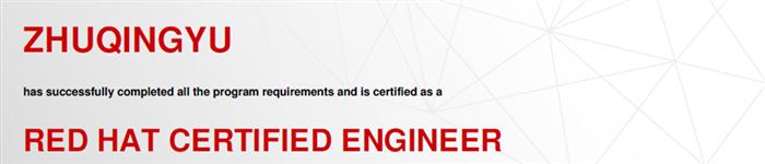 捷讯:祝庆宇1月19日北京顺利通过RHCE认证。