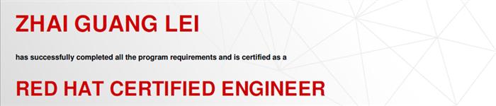 捷讯:翟光磊12月27日北京顺利通过RHCE认证。